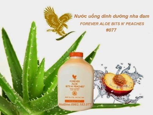 Nước uống nha đam hương đào Aloe Bits Peaches