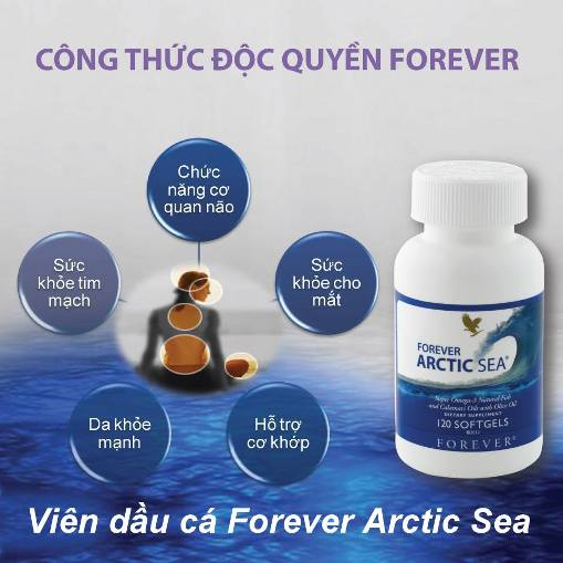 Viên dầu cá Forever Arctic Sea